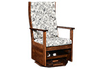ladder back octagon swivel glider